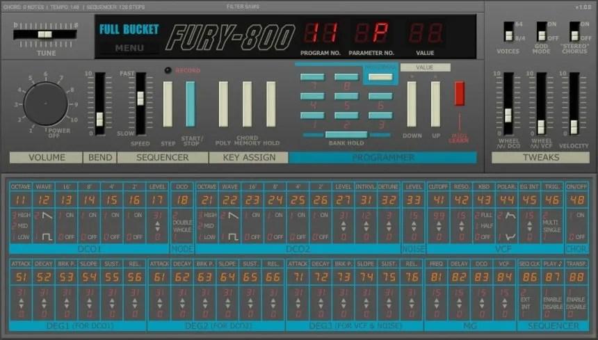 Fury-800 | Audio Plugins for Free