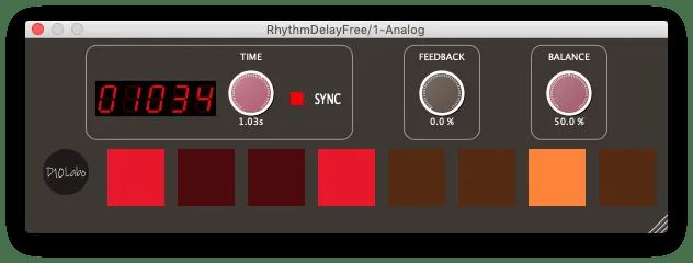 RhythmDelayFree | Audio plugins for free