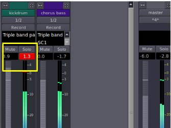 clipping on one channel but the master channel is not clipped