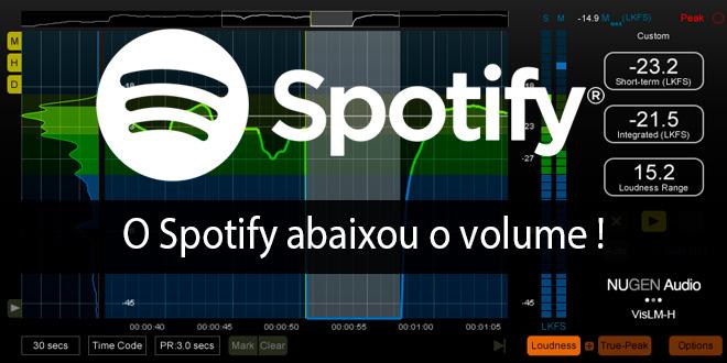 O Spotify abaixou o volume!