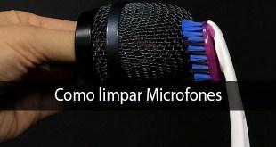 capa limpar microfone