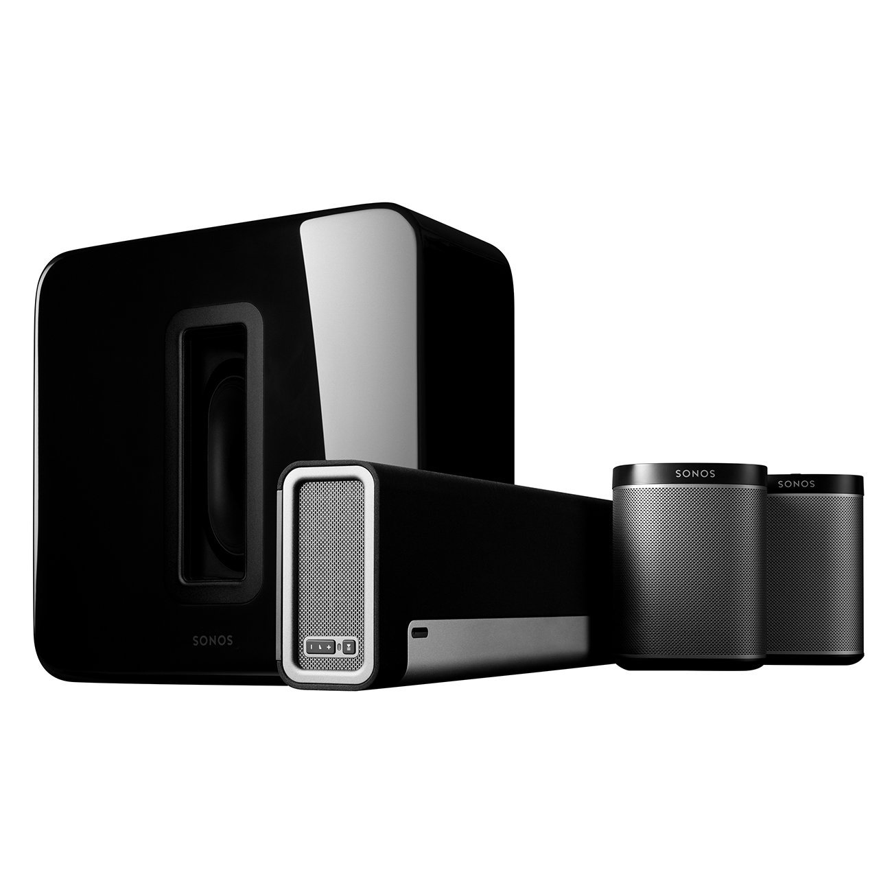 hight resolution of sonos 5 1 home theater system playbar sub play 1 wireless rears combination