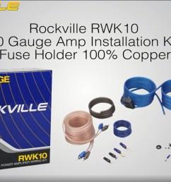 dual bak1500 10 1500w active powered under seat car subwoofer sub wire kit walmart com [ 1436 x 809 Pixel ]