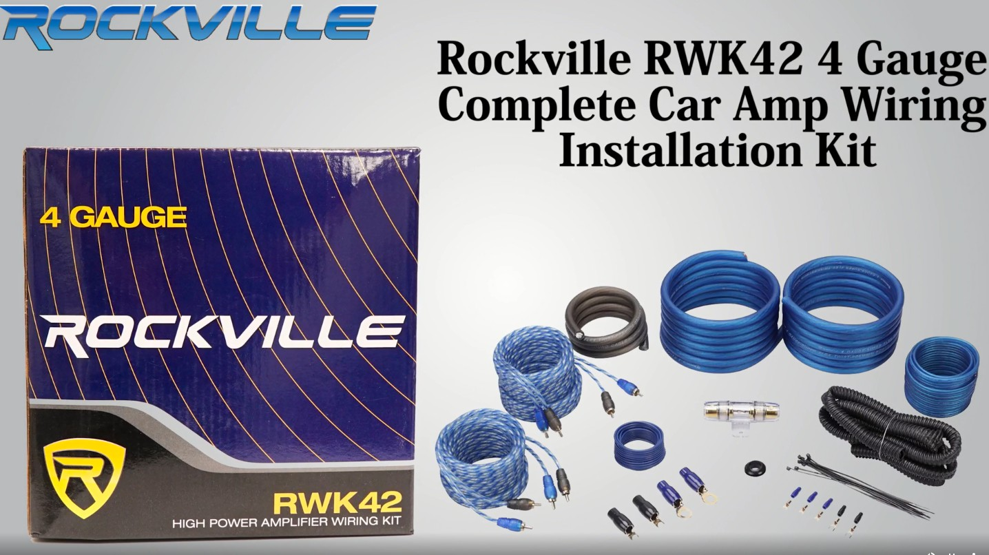hight resolution of rockville rwk42 4 gauge 4 chan car amp wiring installation wire kit 2 rca s audio savings