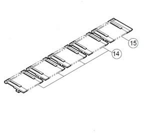 Conjunto octava teclas blancas para Casio CTK620L (ref