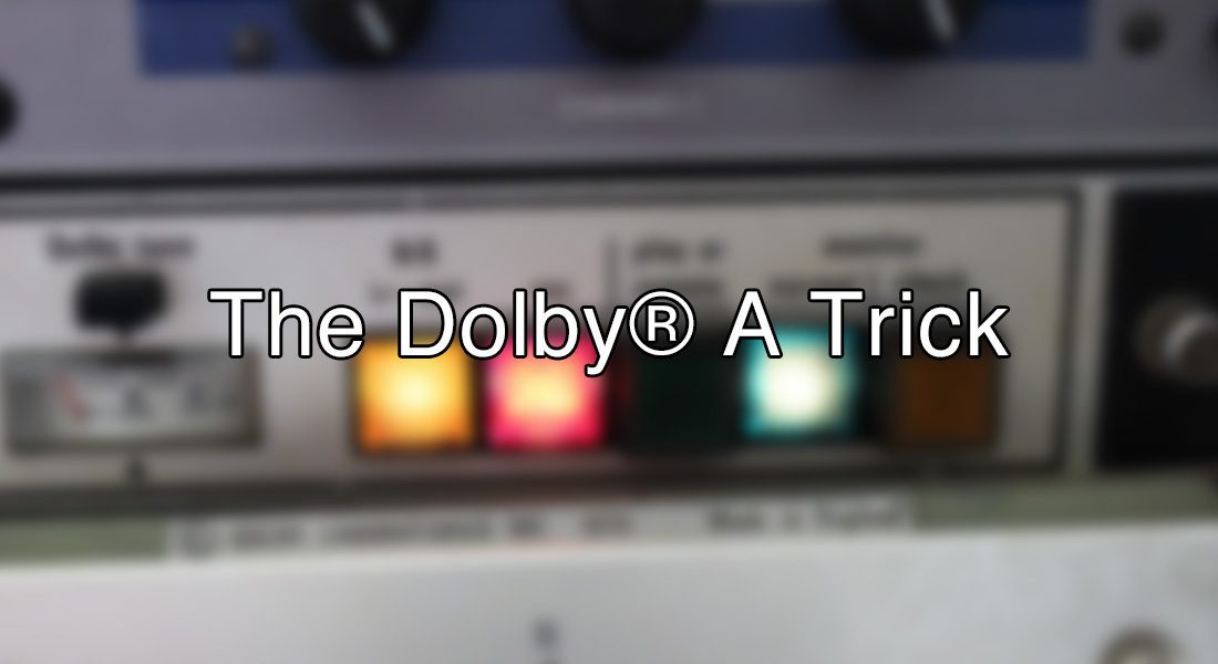 The Dolby A Trick - VST Plugin Tutorial