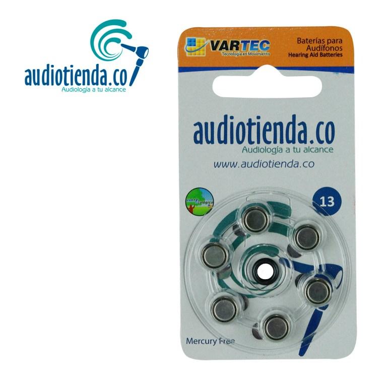 Pilas para audifonos Vartec audiotienda 13