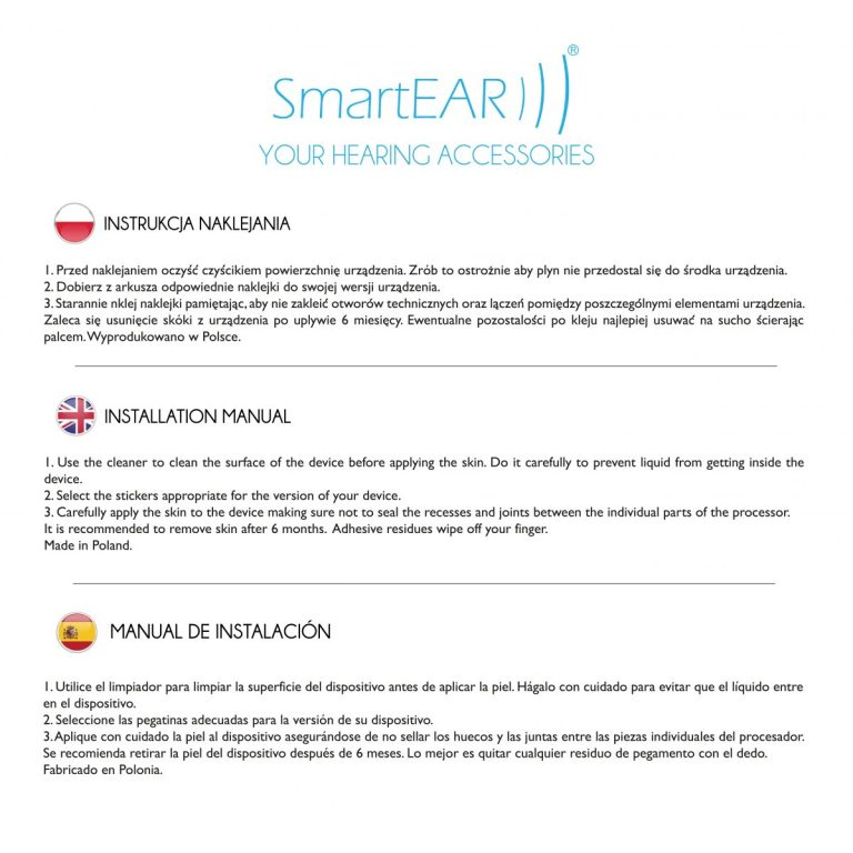 sticker smartear implante coclear