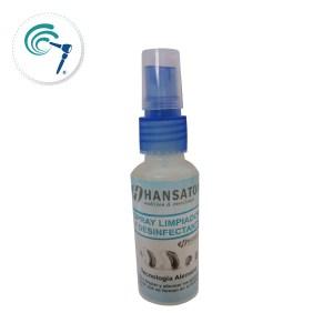 Spray limpieza audifonos hansaton