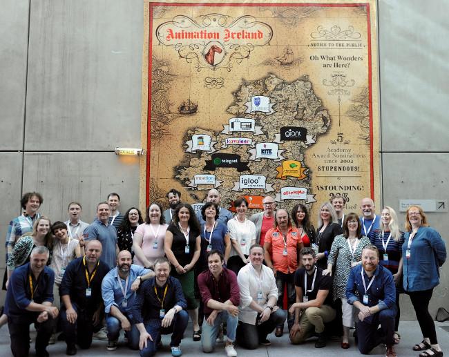 Delegación irlandesa en Cartoon Forum 2016.
