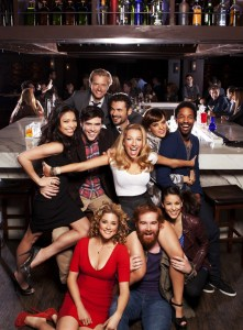 TOP ROW: ADAM CAMPBELL;  MIDDLE ROW: GINGER GONZAGA, BLAKE LEE, ADAN CANTO, VANESSA LENGIES, FRANKIE SHAW, CRAIG FRANK;  ON FLOOR: ALEXIS CARRA, ANDREW SANTINO, KATE SIMSES