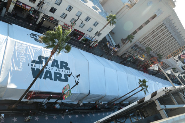 Raimundo Hollywood Star Wars 2015 carpa Premiere