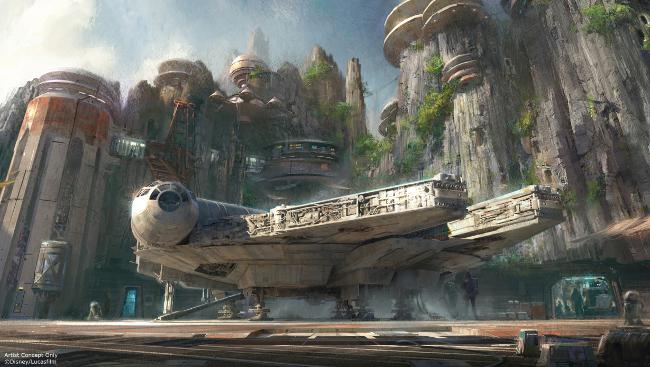 Raimundo Hollywood Star-Wars-Land-Millennium-Falcon