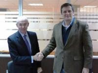 Alberto González Lorca (derecha), presidente de ADESE, junto a Juan Luis Laskurain, Director General de DigiPen.