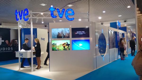 """El nuevo stand de TVE en Mipcom """"014"""