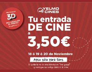 Yelmo Cines Sigue Aprovechando La Inercia De La Fiesta Del Cine Y Lanza Ahora 200 000 Entradas A 3 50 Euros Audiovisual451