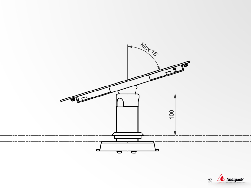 Table stand suitable for the tablet housings with fixed
