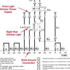 Audi A6 C6 Brake Light Wiring Diagram 6 Way Rv A3 Tail - Just Data