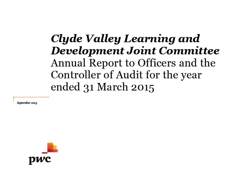 Clyde Valley Learning and Development Joint Committee