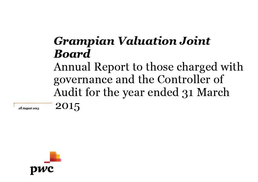 Grampian Valuation Joint Board annual audit 2014/15