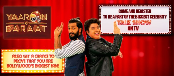 Yaaron Ki Baraat Registration - Sabse Bada Fan & Audience Registration
