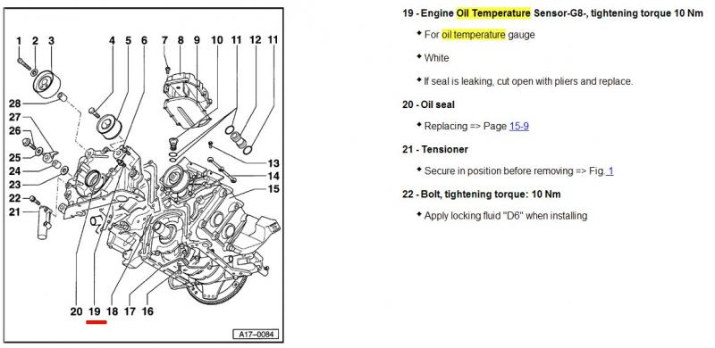 Volkswagen Coolant Temperature Sensor Location