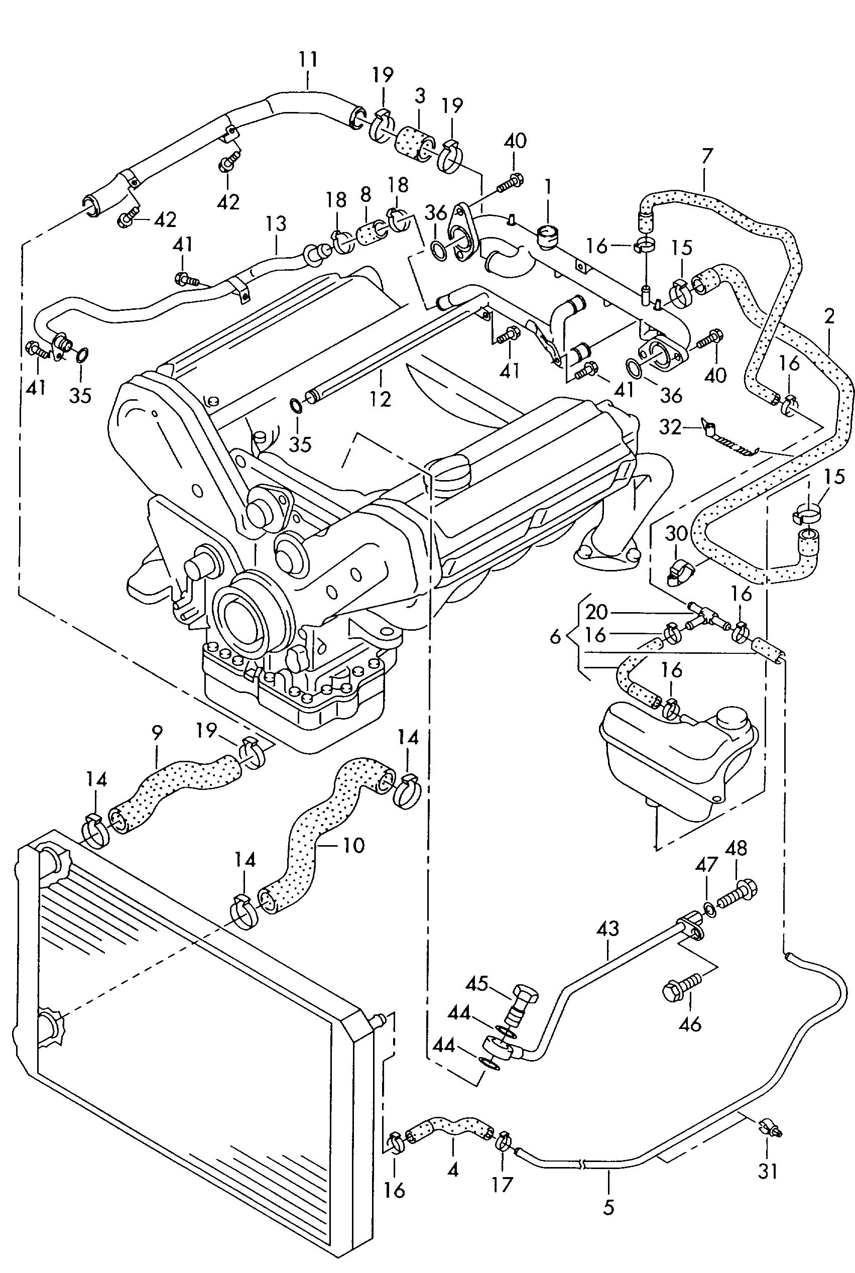 Which Coolant Crossover Pipe 0-Ring for 2003 S8