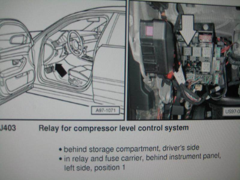 audi a6 c6 wiring diagram contura switch air suspension relay location audiworld forums