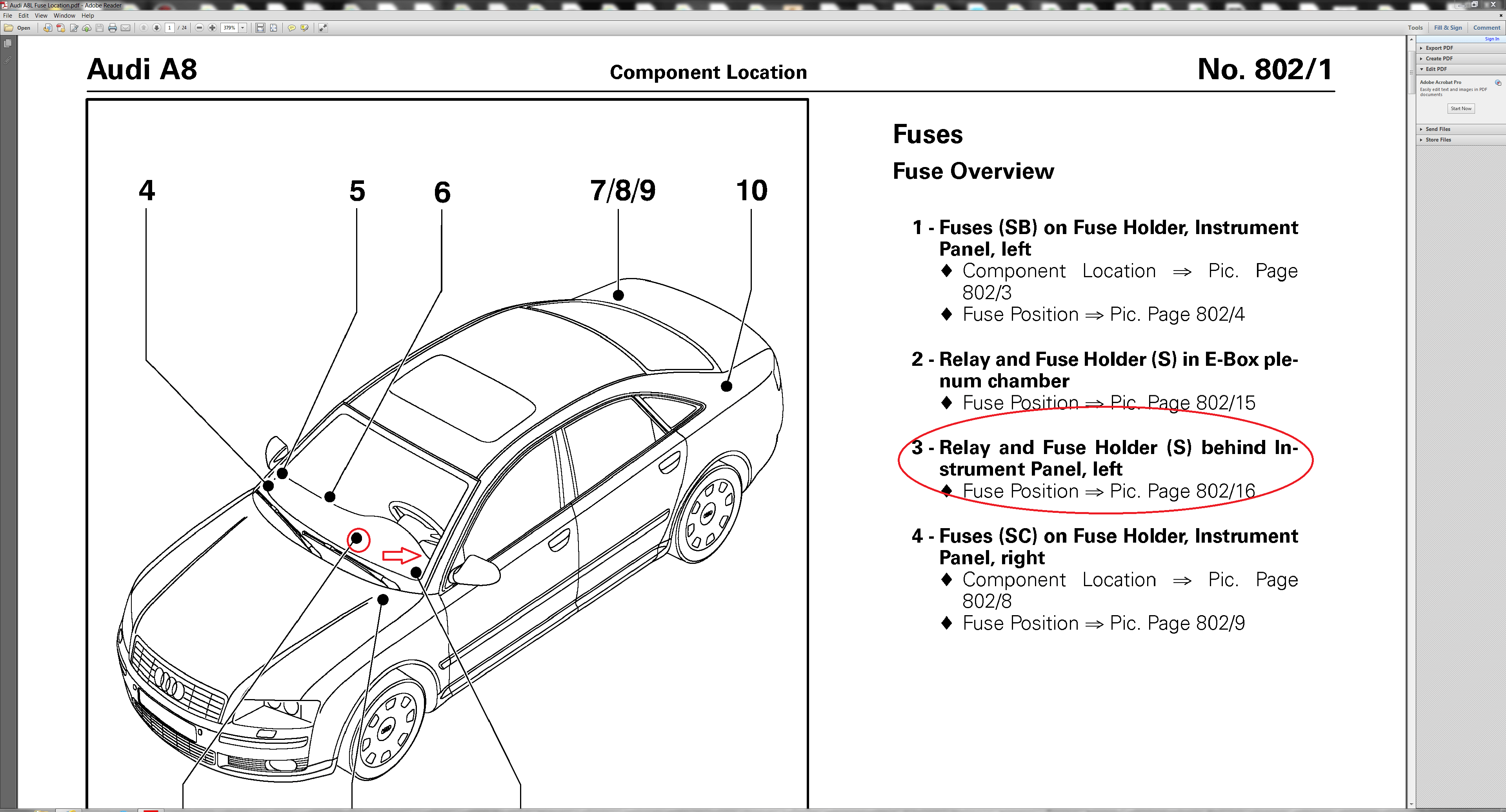 Audi A4 Relay Box Location