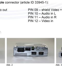 tv tuner installation mmi change to fbas unit 12 pin tv  [ 3120 x 1462 Pixel ]