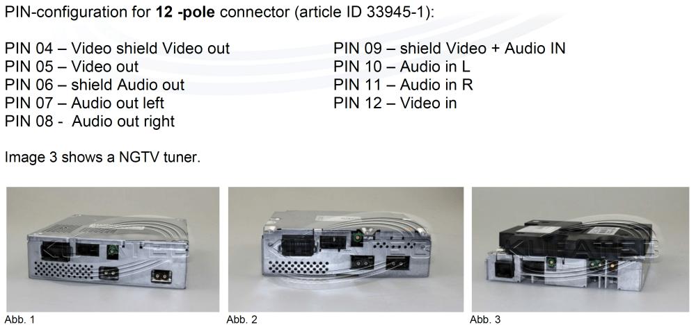 medium resolution of tv tuner installation mmi change to fbas unit 12 pin tv