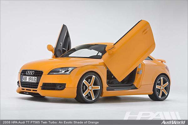 2008 HPA Audi TT FT565 Twin Turbo: An Exotic Shade of Orange - AudiWorld