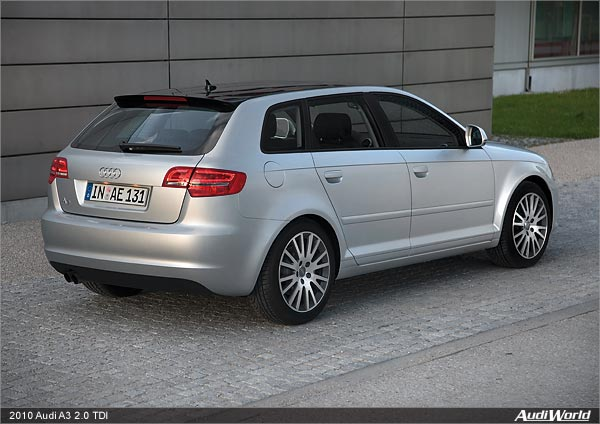 2010 audi a3 2 0 tdi clean diesel quick reference usa data audiworld rh audiworld com 2010 Audi A8 2015 Audi A3