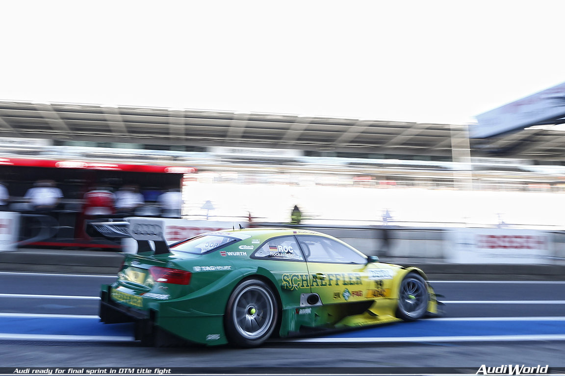 Audi Ready For Final Sprint In Dtm Title Fight Audiworld
