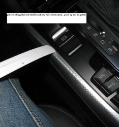 the glovebox and door trim is a walk in the park to take off the center console trim is not so this is how i did it  [ 1306 x 980 Pixel ]