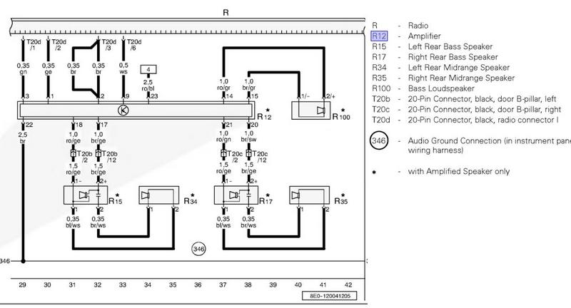 audi a8 speaker wiring diagram
