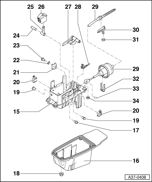 Help for auto shifter dis-assembly or tiptronic help?