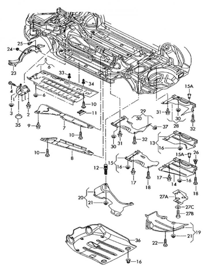 2004 Audi A4 Parts Diagram Inner Liner • Wiring Diagram