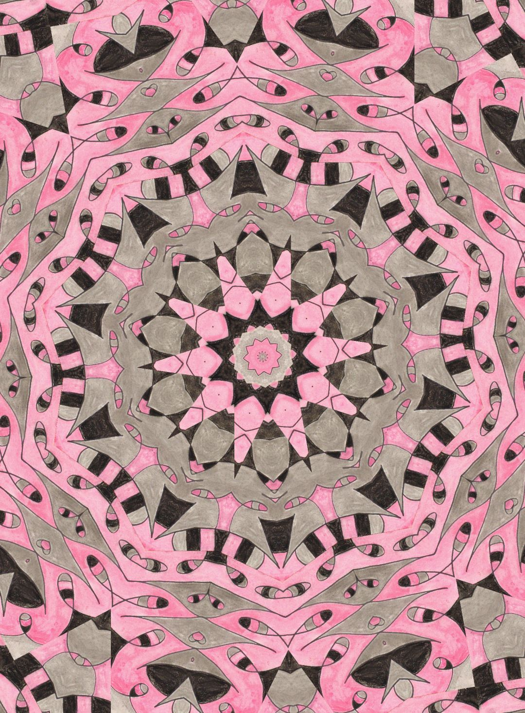 Pink Doily, abstract art by Audra Arr