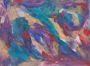 wax, abstract art, audra arr, purple, red, blue, green
