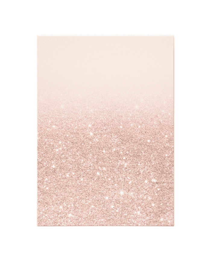 Shop  Rose Gold Faux Glitter Pink Ombre Wedding Invitation