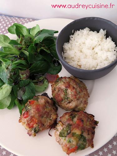 boulettes de porc et de veau aux légumes