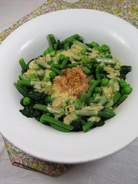 duo de saumon légumes verts
