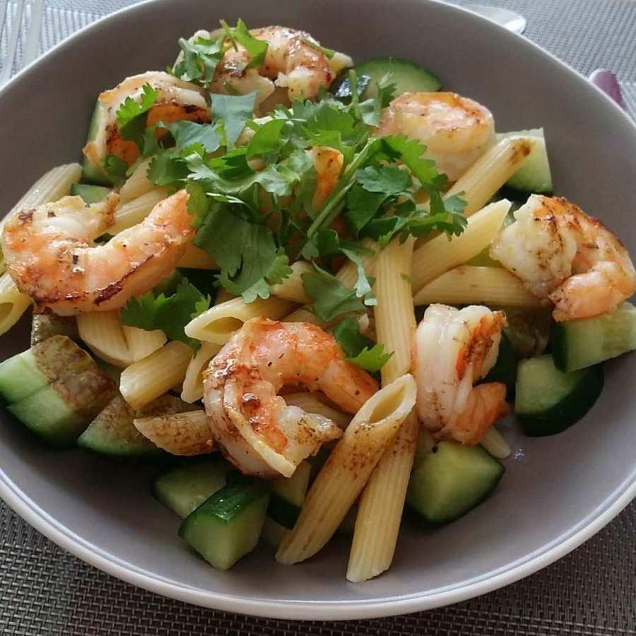 Salade de p tes aux crevettes marin es ma p 39 tite cuisine for Annales cap cuisine