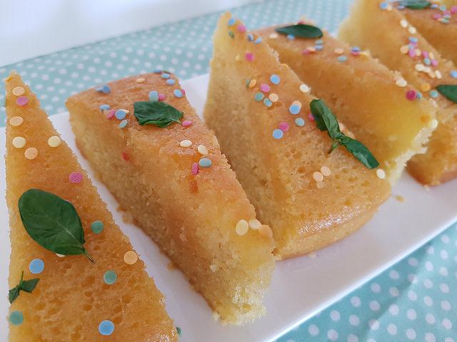 Gâteau au citron & à la menthe