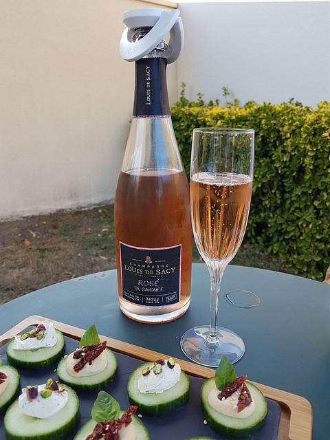 conserver une bouteille de champagne