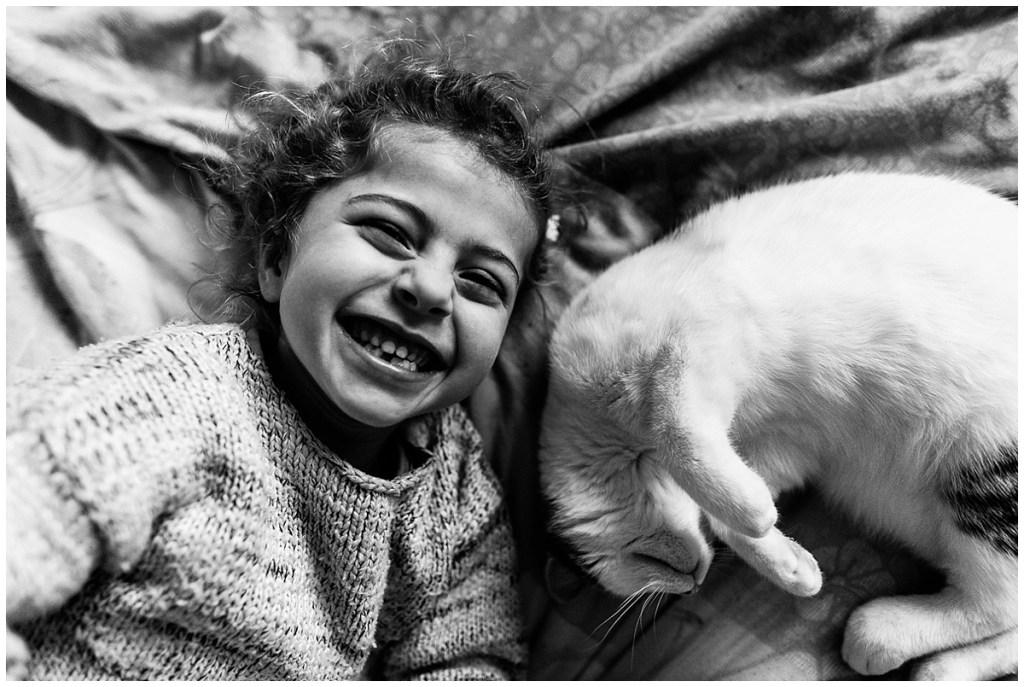 rire avec son chat