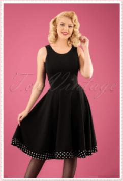 Audrey Hepburn Dress Dots Black
