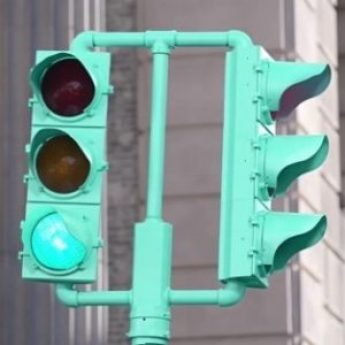 Tiffany Blue Traffic Light