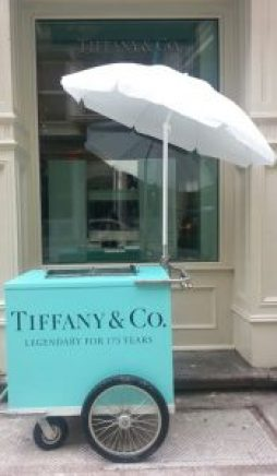 Tiffany Blue Coffee Cart